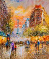 La Tour Eiffel копия картины Бланшар Антуана