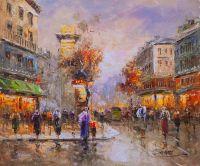 Пейзаж Антуана Бланшара Париж. Улица Сен-Дени