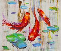 Карпы Кои. Японская золотая рыбка на удачу N15