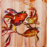 Карпы Кои. Японская золотая рыбка на удачу N10