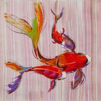 Карпы Кои. Японская золотая рыбка на удачу N11