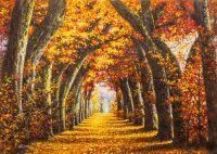 Шумит листвой дубовая аллея