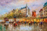 Пейзаж Парижа Антуана Бланшара. Le Moulin Rouge