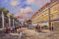 Пейзаж Парижа Антуана Бланшара. Rue de Rivoli
