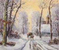 По дороге зимней на рассвете…