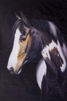 Портрет гнедого коня