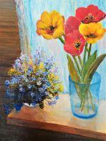 Букет полевых и садовых цветов