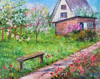 Уголок весеннего сада