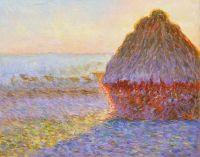 Копия картины Клода Моне. Стог сена в Живерни. Восход