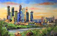 Вид на Москва-Сити с набережной
