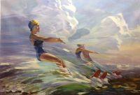 Копия картины Владимира Кутилина. Бегущая по волнам