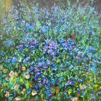 Голубые цветы