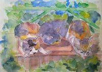 Мозаичные котики