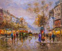 Пейзаж Антуана Бланшар Le Boulevard Paris (Парижские бульвары)