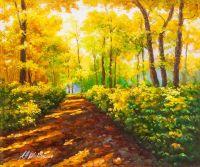 Солнечным днём в осеннем парке