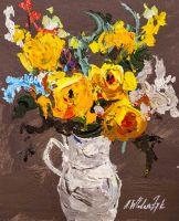 Букет жёлтых роз в кувшине N3