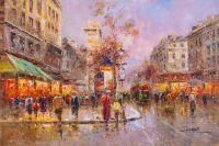 Пейзаж Парижа Антуана Бланшара Улица Сен-Дени