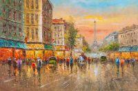 Пейзаж Парижа Антуана Бланшара La Tour Eiffel N5)