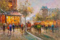 Пейзаж Парижа Антуана Бланшара La Rue Lafayette et le Square Montholon