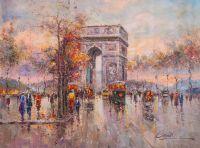 Пейзаж Парижа Антуана Бланшара Arc de Triomphe