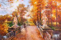 Осенний парк. Мост кентавров