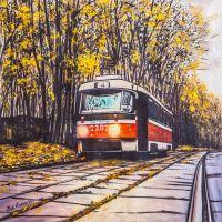 Осенний трамвай. Сокольники