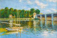 Картина копия Клода Моне. Мост в Аржантее