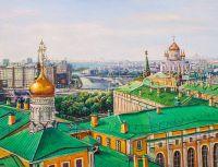 Прогулки по крышам Москвы. Вид на Храм Христа Спасителя