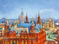 Вид на Исторический музей и Храм Василия Блаженного