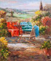 Отдых в цветущем саду