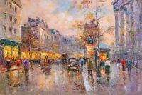 Пейзаж Парижа Антуана Бланшара. Boulevard des Capucines et Madeleine
