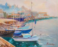 Лодки в порту. Зарисовки