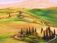 По мотивам пейзажи Тосканы