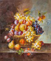 Натюрморт с фруктами в стиле барокко N3
