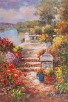 Цветущий дворик N2. Полдень