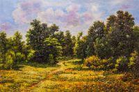 Копия картины Ивана Шишкина. Опушка лиственного леса