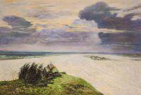 Копия картины И. Левитана. Над вечным покоем
