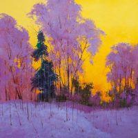 Золотой закат в лесу N2