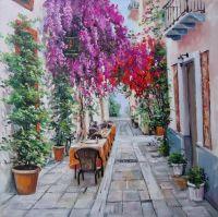 улочка в цветах