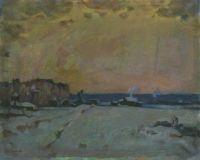 Зимний вечер на селе
