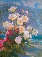 Розы у залива