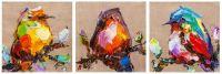 Птички на удачу N4. Триптих