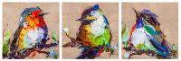 Птички на удачу N6. Триптих