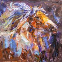 Лошадь. Ветер в гриве