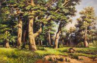 Копия картины Ивана Шишкина. Дубовая роща