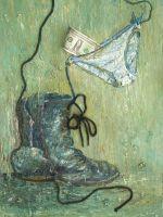 Ботинок,доллар и трусы