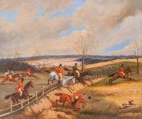 Копия картины Генри Томаса Олкена. Охотничья сцена