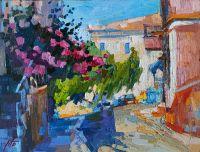 Солнечная улочка на Корфу