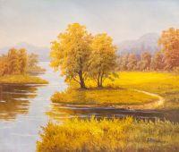 Осенняя пастораль. На берегу реки