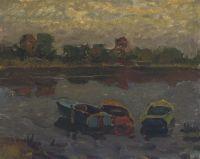 Лодки на вечерней реке